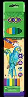 Карандаши цветные Zibi SOFT 6 цветов (ZB.2409)