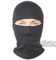 Шапка-маска Балаклава лайкра (черная)