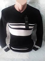Мужской приталенный осенний свитер 46-48 рр