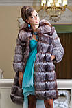 """Шуба полушубок жилет из чернобурки """"Натали"""" silver fox fur coat jacket vest gilet, фото 7"""