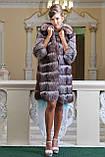 """Шуба полушубок жилет из чернобурки """"Натали"""" silver fox fur coat jacket vest gilet, фото 8"""