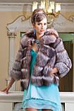 """Шуба полушубок жилет из чернобурки """"Натали"""" silver fox fur coat jacket vest gilet, фото 9"""