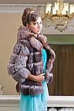 """Шуба полушубок жилет из чернобурки """"Натали"""" silver fox fur coat jacket vest gilet, фото 10"""