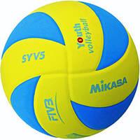 Мяч волейбольный Mikasa SYV5-YBL оригинал облегчённый подростковый