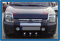 Хромированные накладки на фары Ford Connect (2002+)
