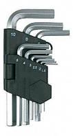 Набор ключей шестигранных Бригадир Standart короткие 9 шт CR-V (66103000)