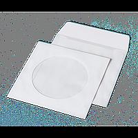 Конверт для CD (124х124мм) білий НК з вікном (термоупаковка)6108_50