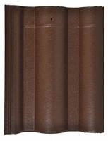 Цементно песчанная черепица Leier Classic черепица рядовая Темно коричневая