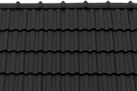 Керамическая черепица Tondach Твист рядовая 40 черный ангоб