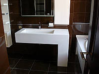Мебель для ванной из кварца, под заказ
