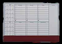 Настiльний тижневий планiнг 2016-2017рр, 30арк., PVC (470x335мм), коричневий0318-0005-11
