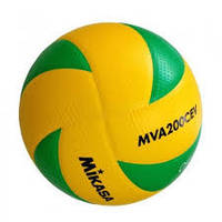 Мяч волейбольный MIKASA MVA200CEV оригинал желто-зелёный