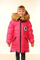 Пальто зимнее для девочки Москино 3-12 лет ассорти цветов