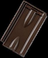 Керамическая черепица Tondach Винер Норма рядовая коричневая ангоб