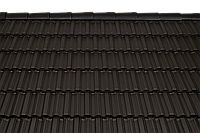 Керамическая черепица Tondach Фиделио рядовая черная ангоб