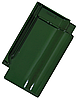 Керамическая черепица Tondach сулм рядовая зеленая F420y глазурь
