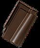 Керамическая черепица Tondach Кармен рядовая коричневая ангоб