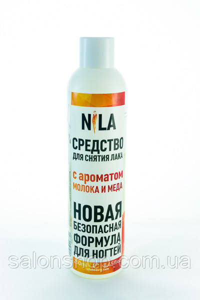 Nila Средство для снятия лака Молоко и мед, 250 мл.