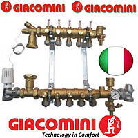 Giacomini модульный коллектор в сборе на 9 выходов