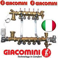 Giacomini Коллектор в сборе для систем напольного отопления 8 выходов