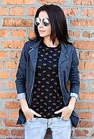 Пиджак женский Рванка (3 цвета), женский пиджак трикотажный, однотонный женский пиджак, дропшиппинг поставщик