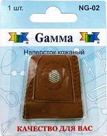 """Наперсток """"Gamma"""" NG-02 в блистере кожаный"""