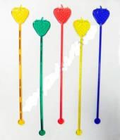 Мішалка Полуниця кольорова 100шт 19см32237