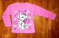Детский реглан для девочки Китти розовый 6-8 лет