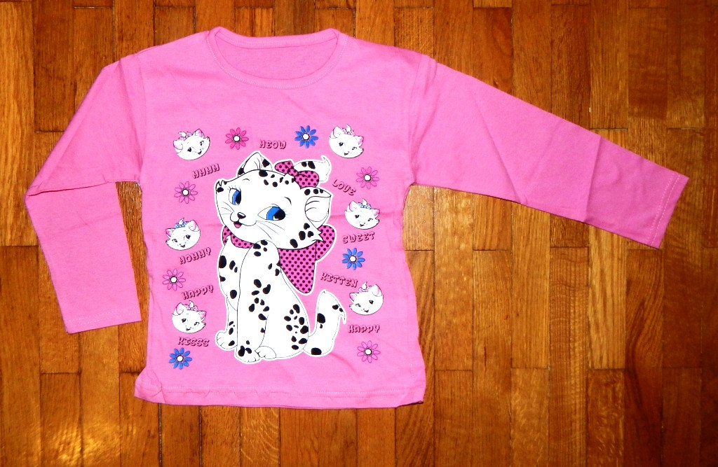 6aa106596876 Детский реглан для девочки Китти розовый 6-8 лет - Интернет-магазин детской  одежды