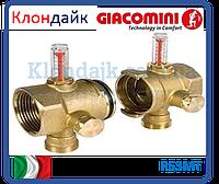 Giacomini модули сборного коллектора концевой(пара) с расходомерами