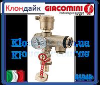 Giacomini Воздухоотводчик,термометр и сбросной кран промежуточный