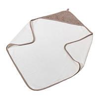 """IKEA """"ОЛЬСКАД"""" Полотенце с капюшоном, белый, бежевый, 80x80 см"""