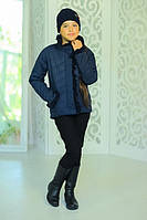 Удлиненная куртка для девочки «Одри», джинс