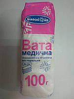 Вата медицинская 100 г нестерильная гигроскопическая гигиеническая (зиг-заг) / Белоснежка