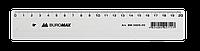 Лінійка пластикова 20см, прозора, в блістеріBM.5826-20