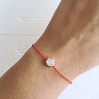 Женский браслет красная нить Solo, магазин бижутерии