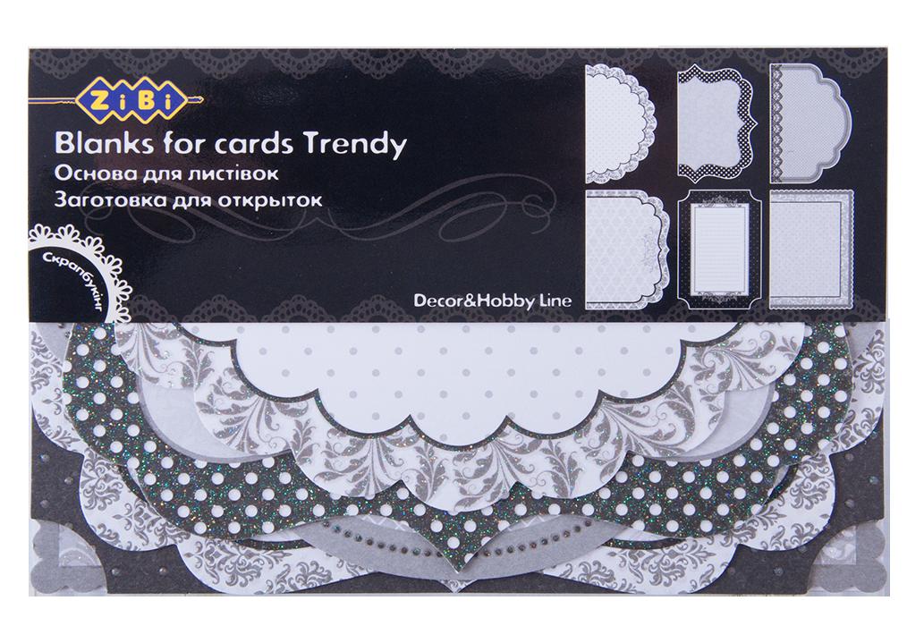 """Заготовка для открыток """"Trendy"""" 10.2*15.3см (ZB.18206-AF)"""