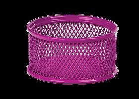Підставка для скріпок 80x80x40мм, металева, рожевийZB.3111-10