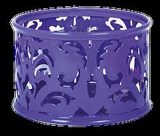 """Підставка для скріпок """"Barocco"""" 85х53мм, металева, фіолетовийBM.6222-07"""