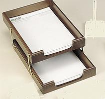Лоток для документов горизонтальный, двойной Bestar орех 1468XDX