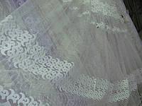 Тюль фатин вышивка вензель