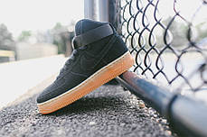 Женские кроссовки Nike Air Force 1 High Suede Black Gum, Найк Аир Форс, фото 2