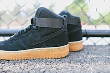 Женские кроссовки Nike Air Force 1 High Suede Black Gum, Найк Аир Форс, фото 3