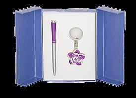 Набір подарунковий Rose: ручка кулькова + брелок, фіолетовийLS.122002-07