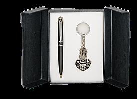 Набір подарунковий Corona: ручка кулькова + брелок, чорнийLS.122004-01
