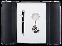 Набор подарочный Langres Romance: ручка шариковая + брелок, черный
