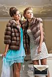 """Полушубок из светлой куницы """"Анна"""" marten fur coat jacket, фото 9"""