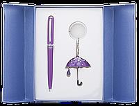 Набор подарочный Langres Umbrella: ручка шариковая + брелок, фиолетовый