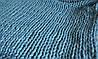 Плед ручной работы, вязанный из толстой пряжи, 100% шерсть. Цвет голубой, фото 4