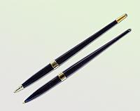 Ручка шариковая Bestar для настольных наборов, черный с золотом